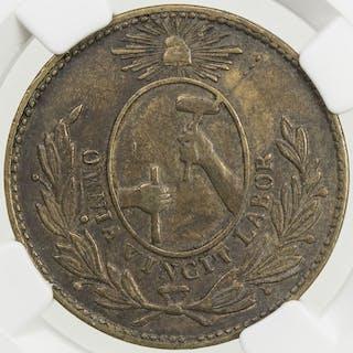 MEXICO: Republic, AE 1/8 real, 1857