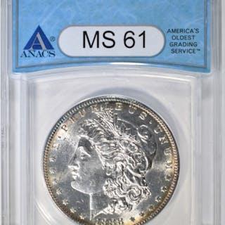1888-S MORGAN DOLLAR ANACS MS-61
