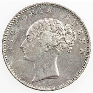 BRITISH INDIA: Victoria, Queen, 1837-1876, AR 1/2 rupee, 1840(c). EF