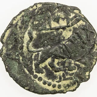 SELJUQ OF SYRIA: Anonymous, ca. 1090s-1110s, AE fals (2.97g), NM, ND. F-VF