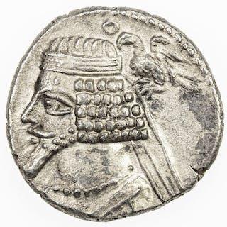 PARTHIAN KINGDOM: Phraates IV, 38-2 BC, AR drachm (3.59g), Court mint
