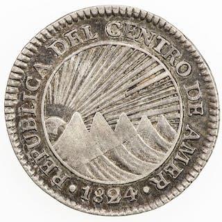 CENTRAL AMERICAN REPUBLIC: AR real, 1824-NG. VF-EF