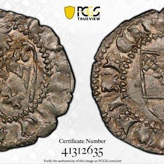 AQUILEIA: Antonio II Panciera, 1402-1411, AR denaro (0.62g). PCGS MS64