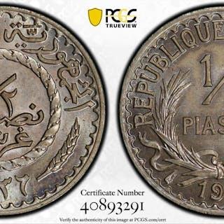 LEBANON: French Mandate, 1/2 piastre, 1936. PCGS MS64
