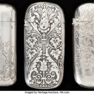 THREE GORHAM SILVER AND SILVER GILT MATCH SAFES, Providence, Rhode