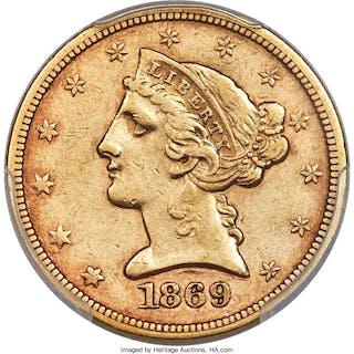 1869-S $5
