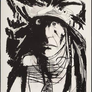 Leonard Baskin (1922-2000) Spies on his Enemies - Crow, 1972 Lithograph