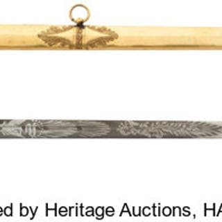 f1ff60530b4 John A. Sutter  A Superb Engraved Sword Presented to this Famous California