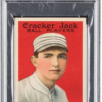1915 Cracker Jack Bob Shawkey #164 PSA NM-MT 8 - Only One Higher.