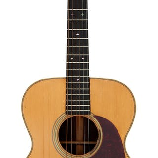 Johnny Cash's 1937 Martin 000-28 Natural Acoustic Guitar, Serial #