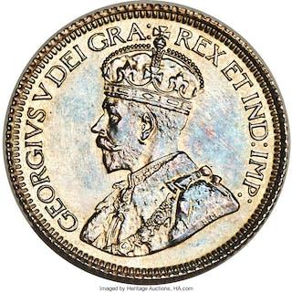 "George V Specimen ""Dot"" 10 Cents 1936 SP63+ PCGS,..."