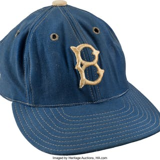 Late 1940's to Early 1950's Brooklyn Dodgers Game Worn Cap.