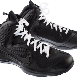 ccde8a122260 2011-12 LeBron James Game Worn Sneakers--Originally a Part of The