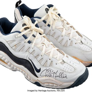 dbedd1ea12f1 Circa 1998 Chris Mullin Game Worn   Signed Indianapolis Pacers Sneakers