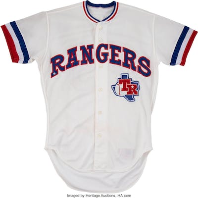new product fd876 206ea 1983 Buddy Bell Game Worn Texas Rangers Jersey - Rare One ...