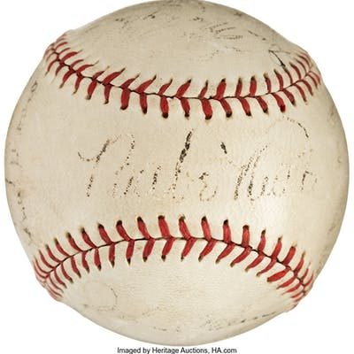 1934 New York Yankees Team Signed Baseball.