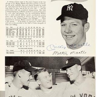 1955 New York Yankees Team Signed Yearbook.