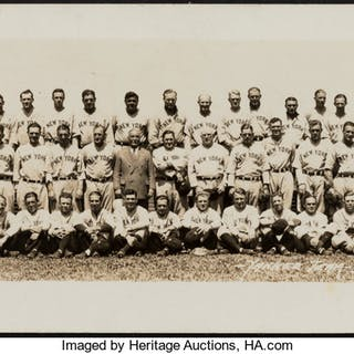 1933 New York Yankees Team Photograph by Thorne Studio, PSA/DNA Type 1.