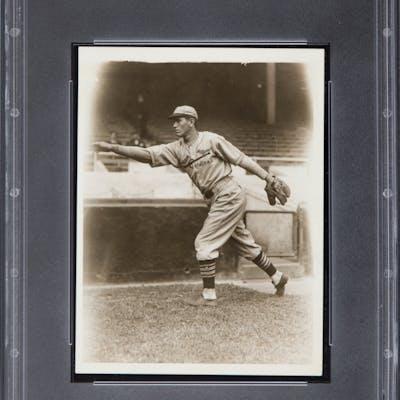 1930 Dizzy Dean Rookie Year Original News Photograph, PSA/DNA Type 1.