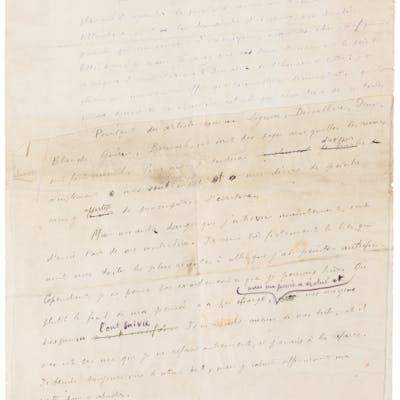 "Henri Matisse. Autograph Manuscript Signed. ""Henri Matisse."" Fifteen"