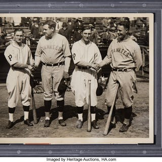 1927 Babe Ruth & Lou Gehrig Exchange World Series Pleasantries with