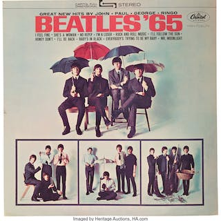 The Beatles '65 Large Easel-Back Capitol Records Store Display (1964).  ...