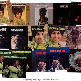 Aretha Franklin Sealed Album Group of 16 (Atlantic, 1967-76). ...