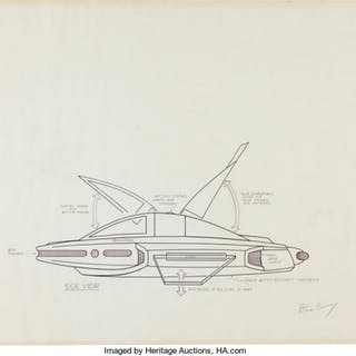 Star Trek: The Next Generation Toy Ship Design Drawings by Dan Curry