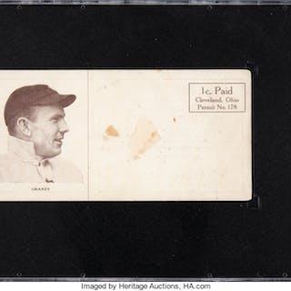 1913 Pyle & Allen Cigars Jack Graney  Post Card SGC Poor 1.