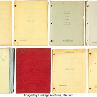 Hal Wallis Associated Collection of (8) Movie Scripts (circa early