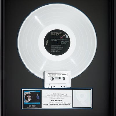 Elvis Presley Aloha from Hawaii RIAA Hologram Platinum Sales Award