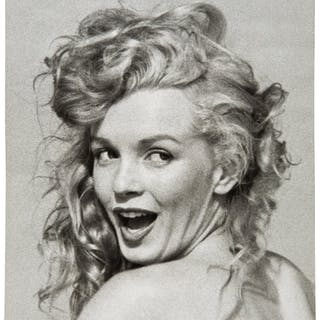 Marilyn Monroe Black and White Photo By Andre de Dienes. ...
