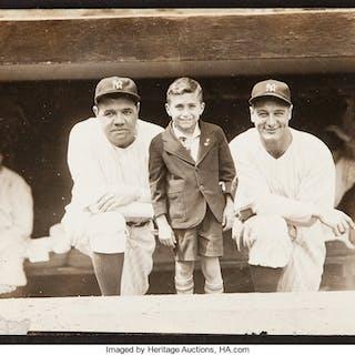 1930's Babe Ruth & Lou Gehrig Original Photograph, PSA/DNA Type 1.