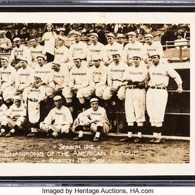 Rare 1912 Photo Art Shop Boston Red Sox RPPC SGC VG 3  | Barnebys
