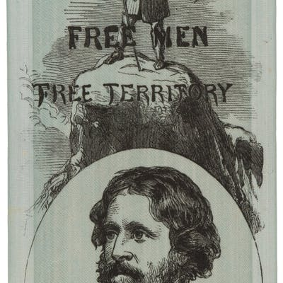 John C. Frémont: Dual-Portrait Taffeta Portrait Ribbon....