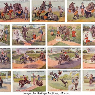 William Howard Taft and William Jennings Bryan: Set of Cartoon Postcards. ...