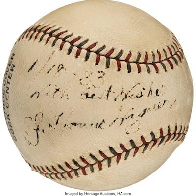 1933 Honus Wagner Signed Baseball.