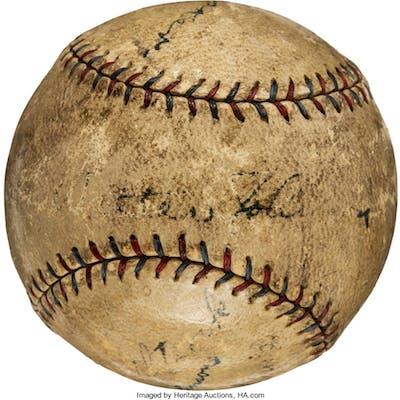 Circa 1927 Tris Speaker & Walter Johnson Multi-Signed Baseball.