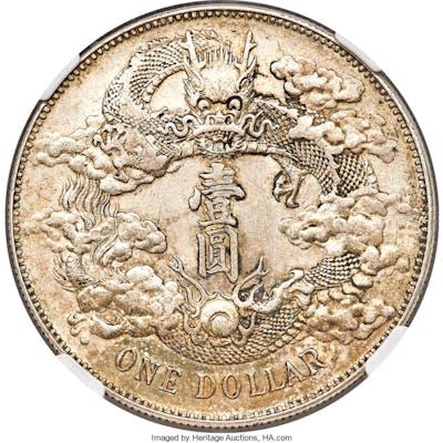 Hsüan-t'ung Dollar Year 3 (1911) MS61 NGC,...