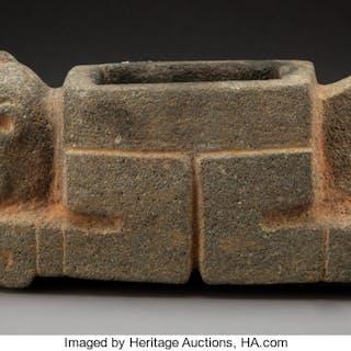 A Rare Maya Stone Mortar c. 400-700 AD...