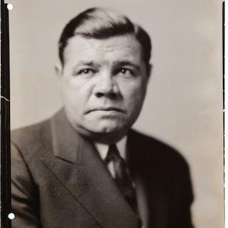 1942 Babe Ruth Original Studio Photograph, PSA/DNA Type 1.