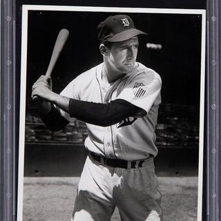 1945-46 Hank Greenberg Original Photograph, PSA/DNA Type 1.