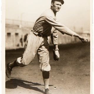 1925 Walter Johnson Original Photograph, PSA/DNA Type 1.