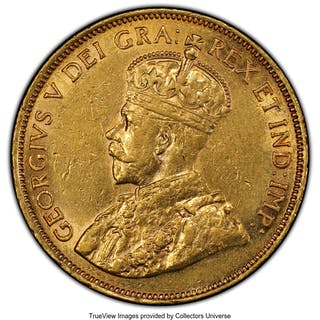 George V gold 10 Dollars 1912 AU55 PCGS,...