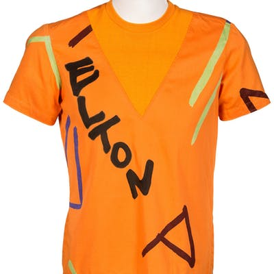 Elton John Owned Orange And Various Other Colors Pull-Over Shirt.  ...