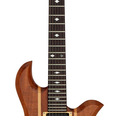 1985 B. C. Rich Eagle Natural Solid Body Electric Guitar, Serial # 85348....
