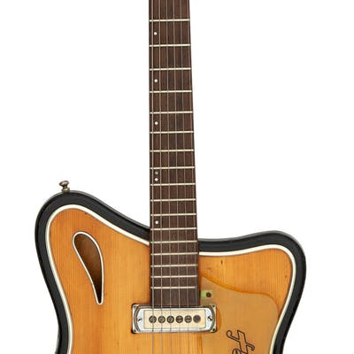 1963 Hopf Saturn 63 Natural Semi-Hollow Body Electric Guitar....