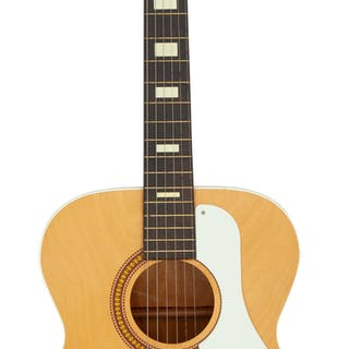 Circa 1970's Silvertone 319-12119 Natural Acoustic Guitar, Serial # 9791....