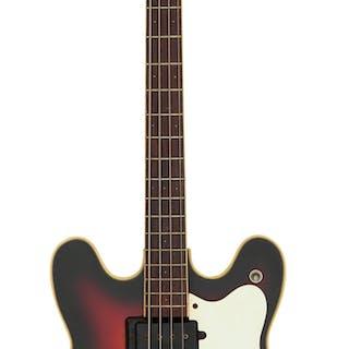 Circa 1966-1969 Mosrite Celebrity Sunburst Electric Bass Guitar, Serial