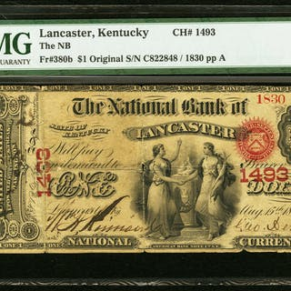 Lancaster, KY - $1 Original Fr. 380b The NB of Lancaster Ch. # 1493
